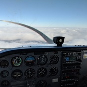 Riding clouds at 3500 ft
