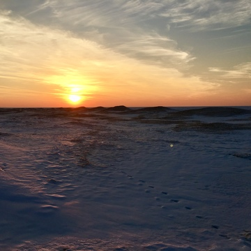 Sunset on Frozen Lake Huron
