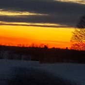 Beautiful sunset in simcoe county