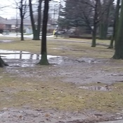 School yard washed away