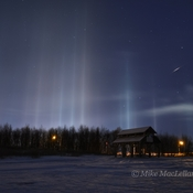 Light Pillars & Meteor