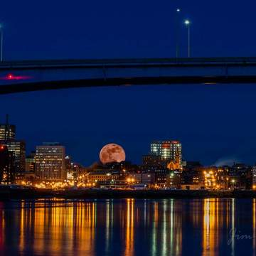 Saint John N.B. blue moon