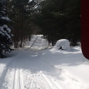 Ski trail at Little Cataraqui Conservation Area