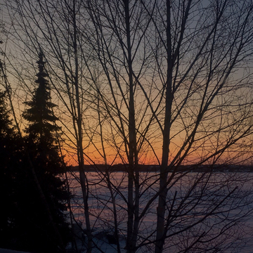 Beautiful sunset over Lake Scugog