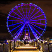 On a frosty night-the BIG wheel spins in Montreal