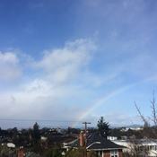 Winter Rainbow in Victoria, BC