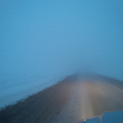 Super foggy road