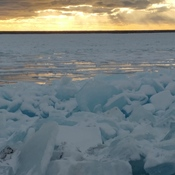 ice build up on lake superior
