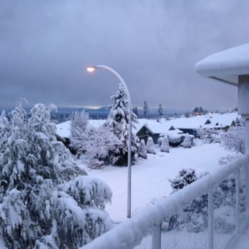 Feb snow in nanaimo BC