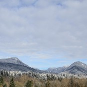 Photo of North Shore mountains from Seylynn