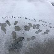 snow on valentine's