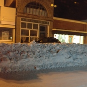 main street Fort Macleod plowed