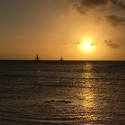 SUNSET ON PALM BEACH,ARUBA