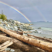Rainbow at Salmon Beach