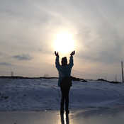 Holding up the sun!