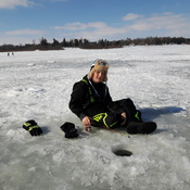 ice fishing on lake Belwood