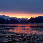 Sunrise over the skeena