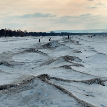 walking on frozen waves