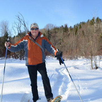 Snow, sun and snowshoes.