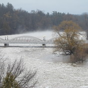 Grand River Flood, Bridgeport (Kitchener), Ontario