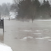 flooding in Mitchell ON.