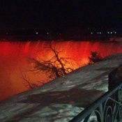 Niagara falls on fire.