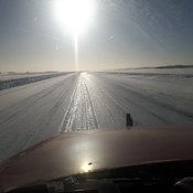 on the ice road