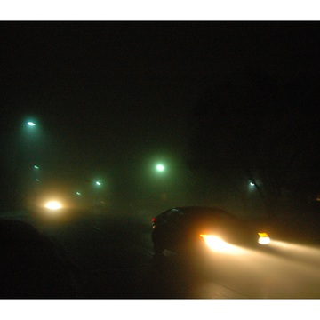 night fog in Brockville Ontario