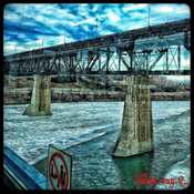 The -almost !- frozen North Saskatchewan River.