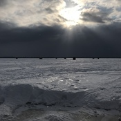 Ice fishing on Lake Simcoe