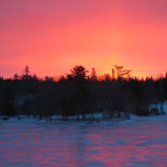 Pretty sunrise. Eight Island Lake, Nova Scotia