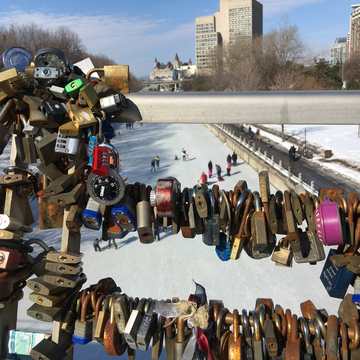 The lock bridge.