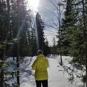 snowshoeing in Kirkland Lake
