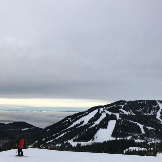 on whistler mountain but view of whistler blackcomb Whistler, British Columbia, CA