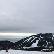 on whistler mountain but view of whistler blackcomb