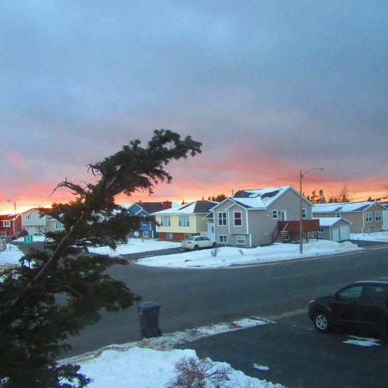 Bright and colourful sunset Mount Pearl, NL
