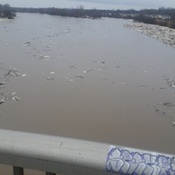 grand river on lauren bridge before it closed to pedestrians