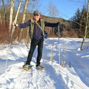 Great snowshoeing weather