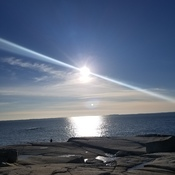 sunny day at Peggys Cove