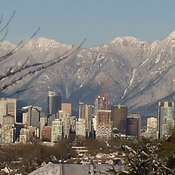 Vancouver, after a snow fall.