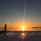 Fireball in Lachine!!! No, just another beautiful sunset