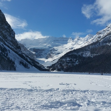 cold crisp day at Lake Louise, Banff Alberta