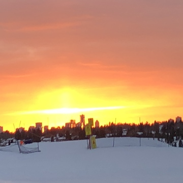 Sunset from Sunridge Ski Hill in Edmonton.