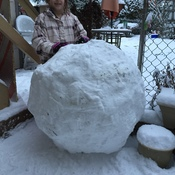 Big snow balls in Langley British Columbia