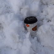 So much snow in Vancouver BC Vancouverites finally get ice Coffee