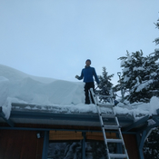 Smithers snow pack on roof!