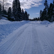 Snowy Road in Quesnel