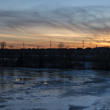 Vimy Memorial Bridge Sunset