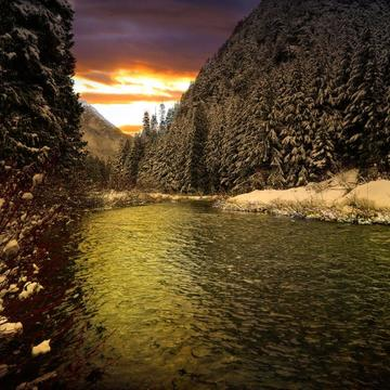 Sunrise in Manning Park, British Columbia