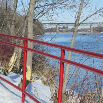 Along the river in Saskatoon
